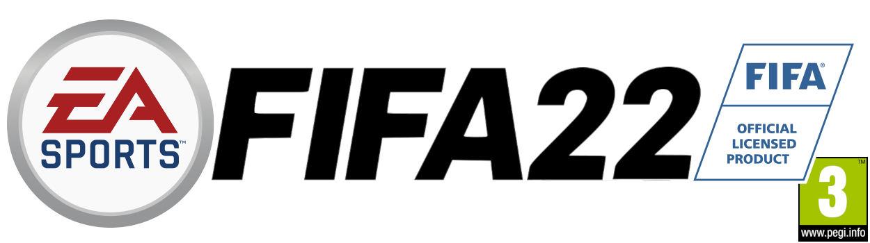FIFA22 logo with PEGI