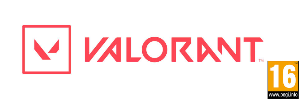 Valorant logo with PEGI